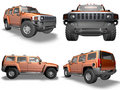 Orange Hummer Royalty Free Stock Photography