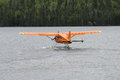 Orange hydroplane Stock Image
