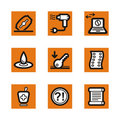 Orange icon series Stock Photography
