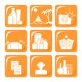Orange icons Royalty Free Stock Photo