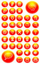 Orange icons internet Royalty Free Stock Photography