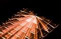 Orange Illuminated Keyboard, Light Trails Around Enter Key, Black Background
