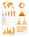 Orange infographic elements Stock Images