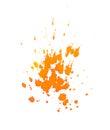 Orange ink splashes on a white background Royalty Free Stock Photography