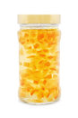 Orange jam jar on white Royalty Free Stock Images