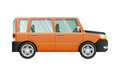Orange Jeep with Clear Glasses. Speed Vehicle Royalty Free Stock Photo