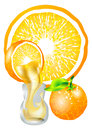 Orange and juice Royalty Free Stock Images
