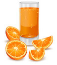 Orange and juice Stock Photos