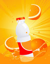 Orange juice bottle Stock Photo