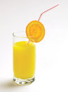 Orange juice fresh isolated with white background Stock Photos