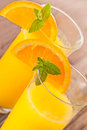 Orange juice fresh with mint and Royalty Free Stock Photo