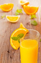 Orange juice fresh with mint and Royalty Free Stock Images