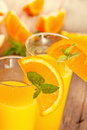 Orange juice fresh with mint and Royalty Free Stock Image