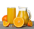 Orange juice fresh on white background Stock Image