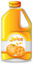 Orange juice in a gallon illustration of an on white background Royalty Free Stock Image