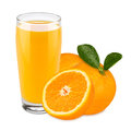Orange juice glas of with fruits Royalty Free Stock Images
