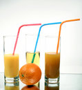 Orange juice into a glass Royalty Free Stock Photography
