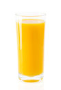 Orange juice a glass of fresh isolated on white background Royalty Free Stock Photography
