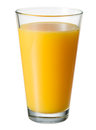 Orange juice. Glass isolated. With clipping path Royalty Free Stock Photo