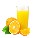 Orange juice and oranges Royalty Free Stock Photo