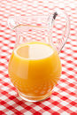 Orange juice in pitcher Stock Photography