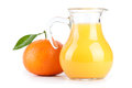 Orange juice in pitcher Stock Image