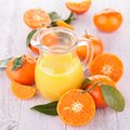 Orange juice pitcher of fresh Stock Photography