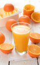 Orange juice and slices of Stock Photo