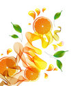 Orange juice splash Royalty Free Stock Photo