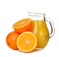 Orange juice on white background Royalty Free Stock Photos