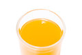 Orange juice on white background Stock Photo