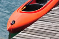 Orange kayak Royalty Free Stock Photography