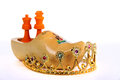 Orange king and Queen Royalty Free Stock Photo