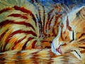 Orange Kitten Sleeping - Acrylic Painting Royalty Free Stock Photos