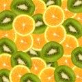 Orange and kiwi slices background Royalty Free Stock Photo