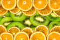 Orange and kiwi slices texture background Royalty Free Stock Photo