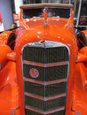 Orange LaSalle Series 50 Convertible Coupe Grill Royalty Free Stock Photo