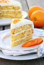 Orange Layer Cake Royalty Free Stock Photo