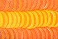 Orange and lemon candy slices as background Royalty Free Stock Photo
