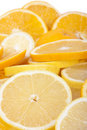 Orange and lemon slices Stock Photography