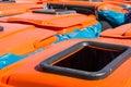 Orange Lid Trash Bins City Community Large Industrial Commercial
