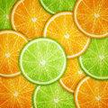 Orange and lime fruit slices background Royalty Free Stock Photo