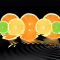 Orange, Lime and Lemon Abstract Stock Image