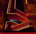 Orange lit staircase Stock Photography