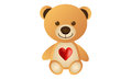 Orange love bear cute cartoon animal Royalty Free Stock Photos