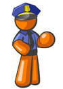 Orange Man Police Officer Royalty Free Stock Image
