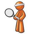 Orange Man Tennis Player Royalty Free Stock Images