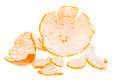 Orange mandarin peel tangerine fruit isolated on white background Stock Images