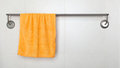 Orange microfiber towel Royalty Free Stock Photography