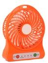 Orange mini fan Royalty Free Stock Photo